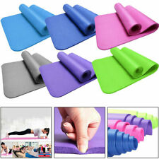 Extra Thick Yoga Mat 4mm Non Slip Exercise Pilates Gym Picnic Camping Sports 1x