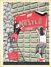 Publicité Advertising 078  1957   chocolat au lait Nestlé