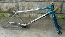 Vtg Huffy Pro Thunder BMX Frame Fork Chrome & Blue Old School 1980's USA