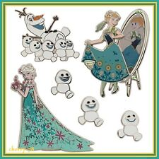 Disney Store Limited Edition 800 Frozen Fever Anna Elsa Olaf Snowgies Pin Set LE