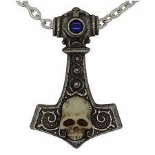 Thor's Skull Hammer Pendant - Alchemy Gothic - English Pewter - Skull - Mjolnir