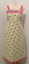 Hanna Andersson Three Sisters Size 4 Dress Lime Green Pink  Floral