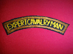 EXPERT CAVALRYMAN - Vietnam War Hand Made Arc Patch
