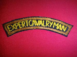 EXPERT CAVALRYMAN - Vietnam War Hand Made Arc Patch