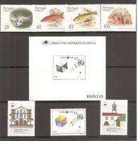 Portugal Madeira SC # 129-136, 130a, 136a Fish, Europa, Monuments.  MNH