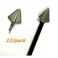 12Pcs 150 Grain Hunting Archery Arrowhead Broadheads Tip Points Arrow Head