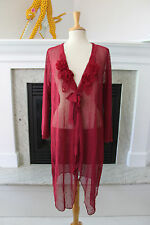 PRETTY ANGEL NWT Burgundy Red Gorgeous Crochet Cardigan Sequins Topper Duster 2X