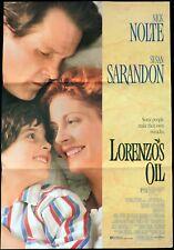 LORENZOS OIL Original Daybill Movie Poster Susan Sarandon Nick Nolte