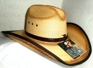 RESISTOL JASON ALDEAN CRAZY TOWN COWBOY WESTERN HAT SIZE 7 1/8