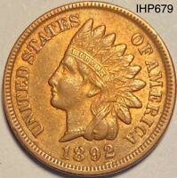 1892 Indian Head Penny Cent