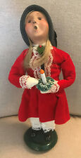 2001 Byers Choice Victorian Child with Candle/Wreath - Limited Edition - 16/100
