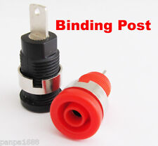 2pcs Red Black Safety 1000V 32A Copper Binding Post 4mm Banana Jack Female (US)