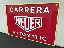 Tag Heuer Carrera Automatic rare metal advertising sign 18x12 large