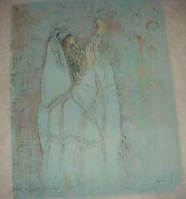 Shofar  Lithograph  Edna Hibel
