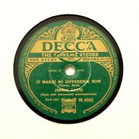 "JIMMIE DAVIS ""It Makes No Difference Now"" 1938 (E++) IRISH DECCA W-4502 [78 RPM]"