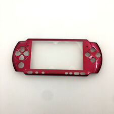 Placa frontal de la placa de cara frontal Rojo Estuche Rígido Cubierta De Reemplazo para Sony PSP 3000
