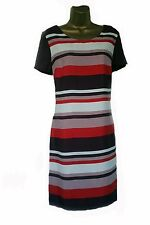 NEW NEXT STRIPED WHITE PURPLE RED SUMMER SUN BEACH TUNIC DRESS 8 10 12 14 16