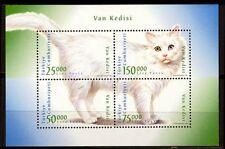 """Turkey- 1997 """"J099 Cat"""" Block Mi.No.3105-8 MNH**"""