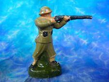 Soldat en composition tireur debout 4 (ELASTOLIN, HAUSSER, DURSO, DC, SOLIDO ?)