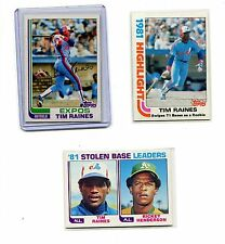 1982 TOPPS BASEBALL 3 CARD LOT #3 & #70 & #164 TIM RAINES MONTREAL EXPOS