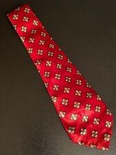 "Vtg 1940s 40s Arco Cravats Rayon Swing Tie Atomic Print Wide Short VLV 51"" 4"""