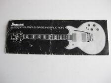 Vintage Ibanez Artist Blazer Roadmaster Guitar Manual