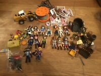 Huge Mixed Lot Of Playmobil Figures Pirates, Egyptian, Construction And More!!