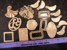 Lot of Brass Jewelry ornament making charm findings decorative embellishments ++
