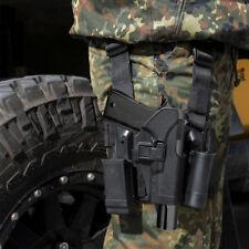 Tactical Right Leg Pistol Gun Holster Magazine Pouch for Glock 17 19 22 23 31 32