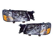 Subaru Forester 03 04 Head Light Lamp With Bulb Pair 84001Sa020 , 84001Sas030