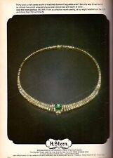 1983 H. Stern Diamond Emerald Jewelry Print Ad Advertisement Vintage VTG 80s