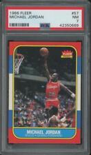 1986 Fleer Basketball #57 Michael Jordan RC Rookie NM PSA 7