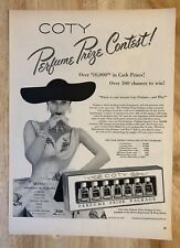 Original Print Ad 1951 COTY Perfume Prize Package