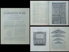 L'ARCHITECTURE N°32 1904 - CHARLES PERCIER, COLLECTION CORROYER