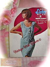 Vintage 1960's Crochet Pattern Lady's 'Pace Setter' Dress £2.49 + Free U.K P&P