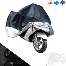 XXL Waterproof Motorcycle Cover Fit Honda Goldwing GL1800 1500 1200 Blk & Silver