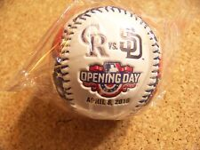 2016 Opening Day Coors Field SD San Diego Padres Colorado Rockies baseball ball