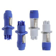 More details for 4 set 3pin power plug chassis plug panel adapter for led large screen 20a 250v