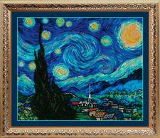 Bead Embroidery kit GOLDEN HANDS MK-018 - Van Gogh's Starry Night