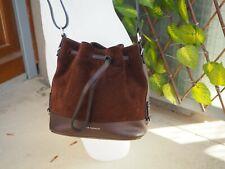 Bag / sac seau bandoulière Le Tanneur Insolente petit format marron chocolat