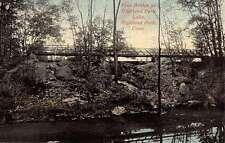 Highland Park Connecticut Foot Bridge Scenic View Antique Postcard K57273