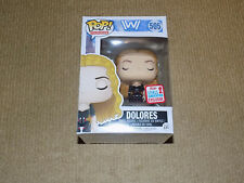 FUNKO, POP, DOLORES, 2017 FALL CONVENTION EXCLUSIVE, WESTWORLD, VINYL FIGURE, NM