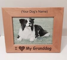 I LOVE MY GRANDDOG Custom Wood 5 x7 Horizontal Grandparents Dog Personalized