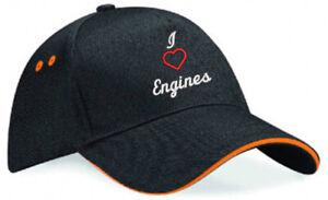 Embroidered I Love............ Black/Orange Ultimate Baseball Cap, Ideal Gift