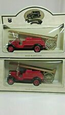 Chevron Commemorative Model 1934 Dennis Refinery Fire Engine Truck Set / 2 Lledo