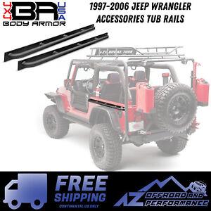 Body Armor 4X4 Tub Rails fits 97-06 Jeep Wrangler TJ Black TJ-4322