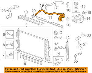 Chevrolet GM OEM 14-15 Cruze 1.4L-L4 Radiator-Outlet Lower Hose 94543097