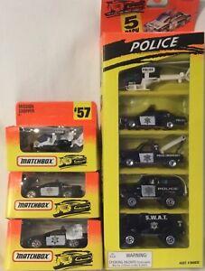 Matchbox - 5-Pack Police Set, PLUS THREE single models, 1994. MIB