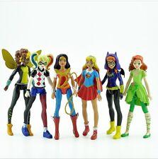 6Pcs 15cm Supergirl Heroes Wonder Woman PVC Action Figure Collectible Kids Toys
