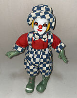 """8"""" Ceramic & Porcelain Clown. Hand Painted Funky Green Legs And Hands. Vintage"""